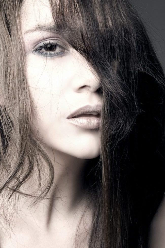 portrait weibliches fotomodell