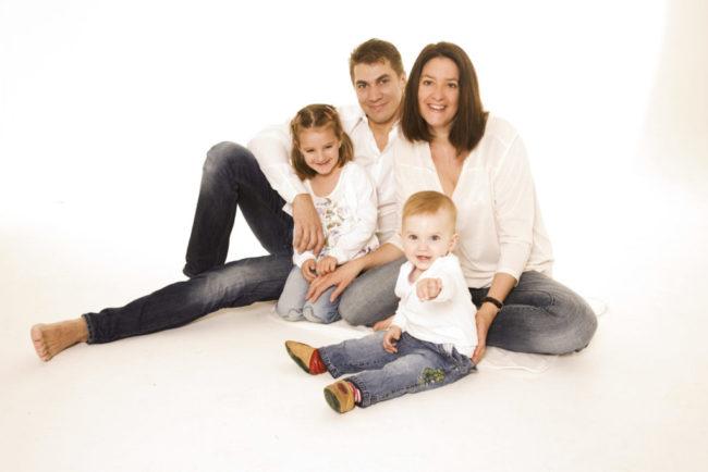 familienfotos im Fotostudio in München